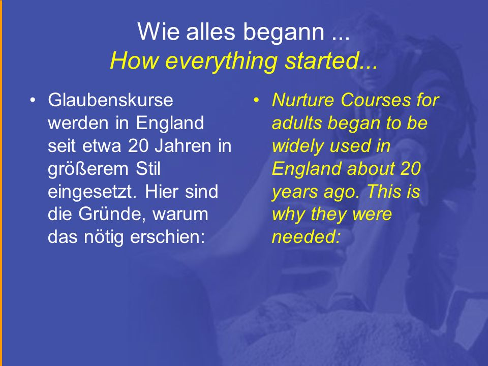 Wie alles begann ... How everything started...