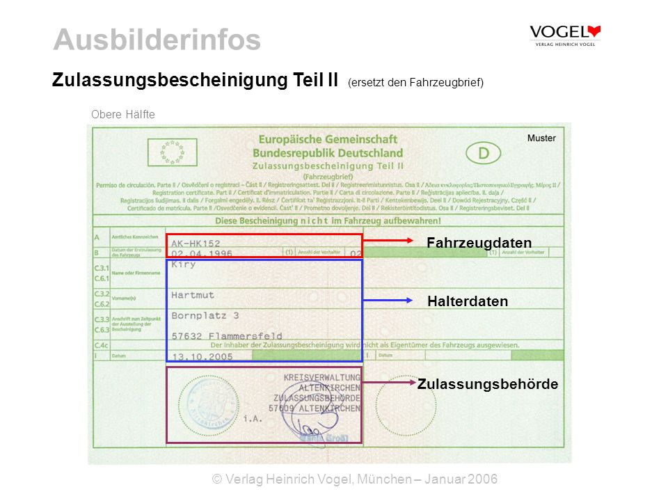 Fahrzeugschein So Liest Du Die Zulassungsbescheinigung 14