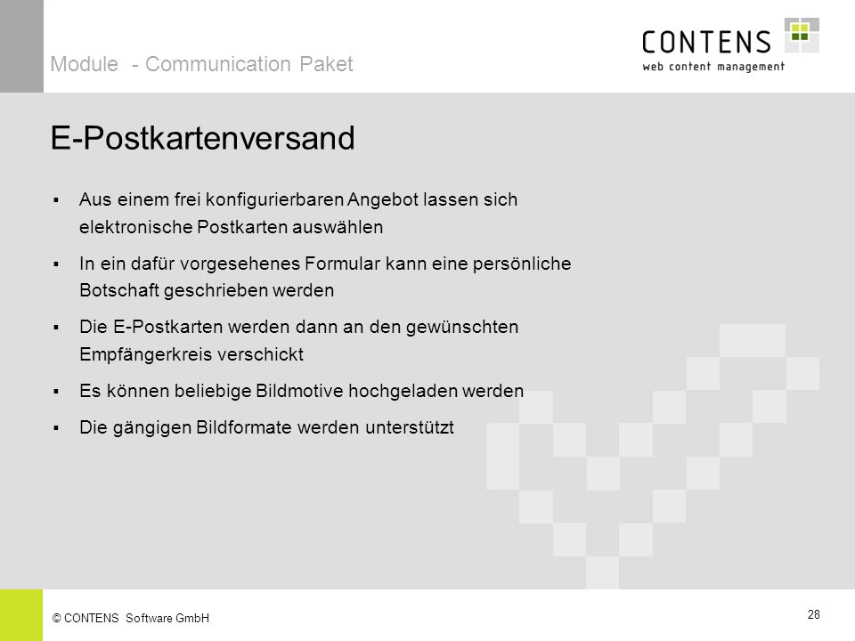 E-Postkartenversand Module - Communication Paket