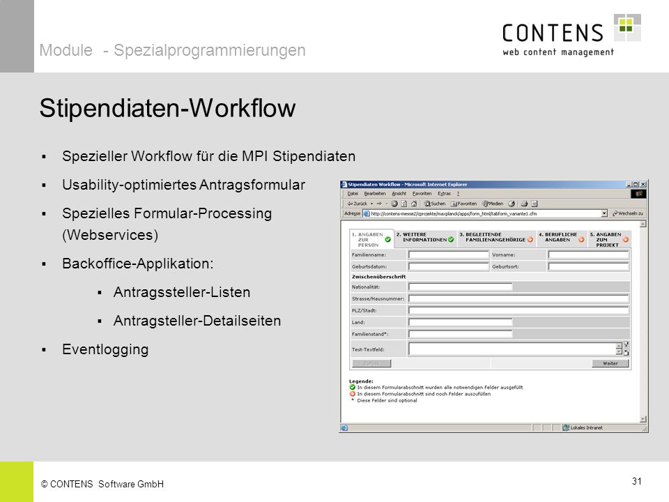Stipendiaten-Workflow