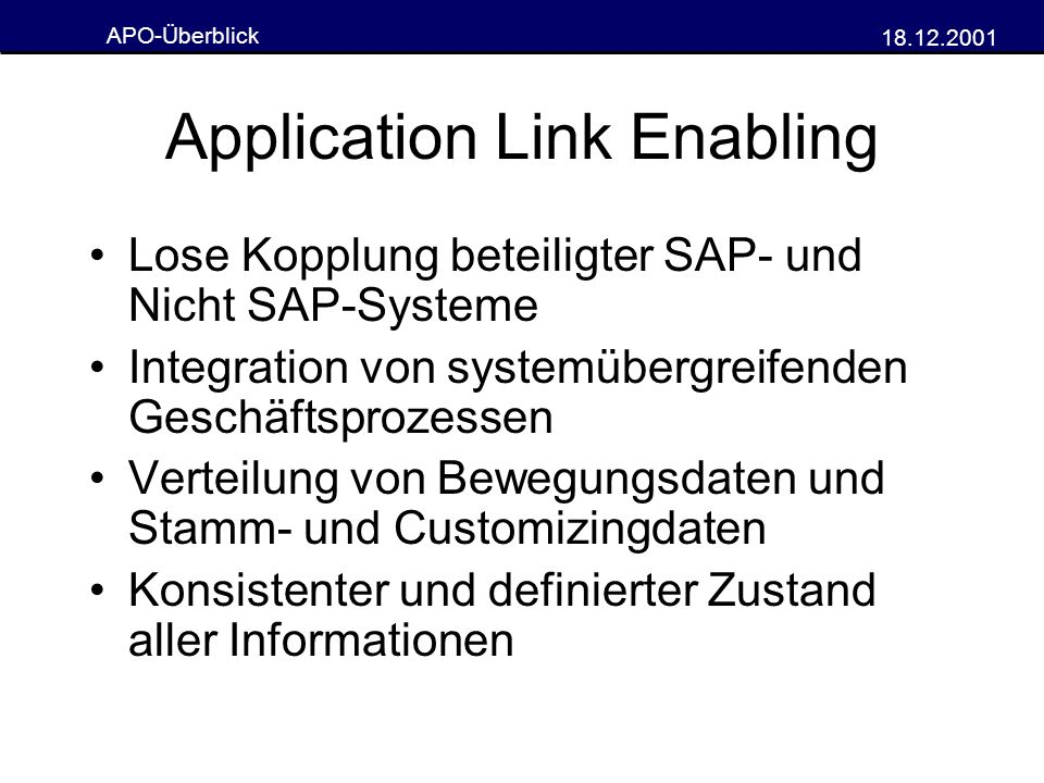 Application Link Enabling