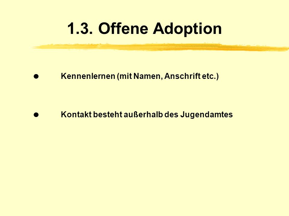 Adoption kennenlernen