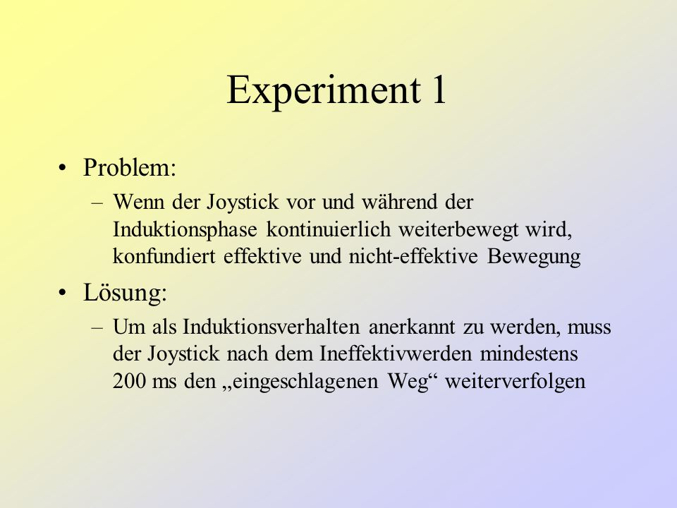 Experiment 1 Problem: Lösung: