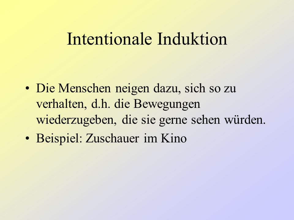 Intentionale Induktion