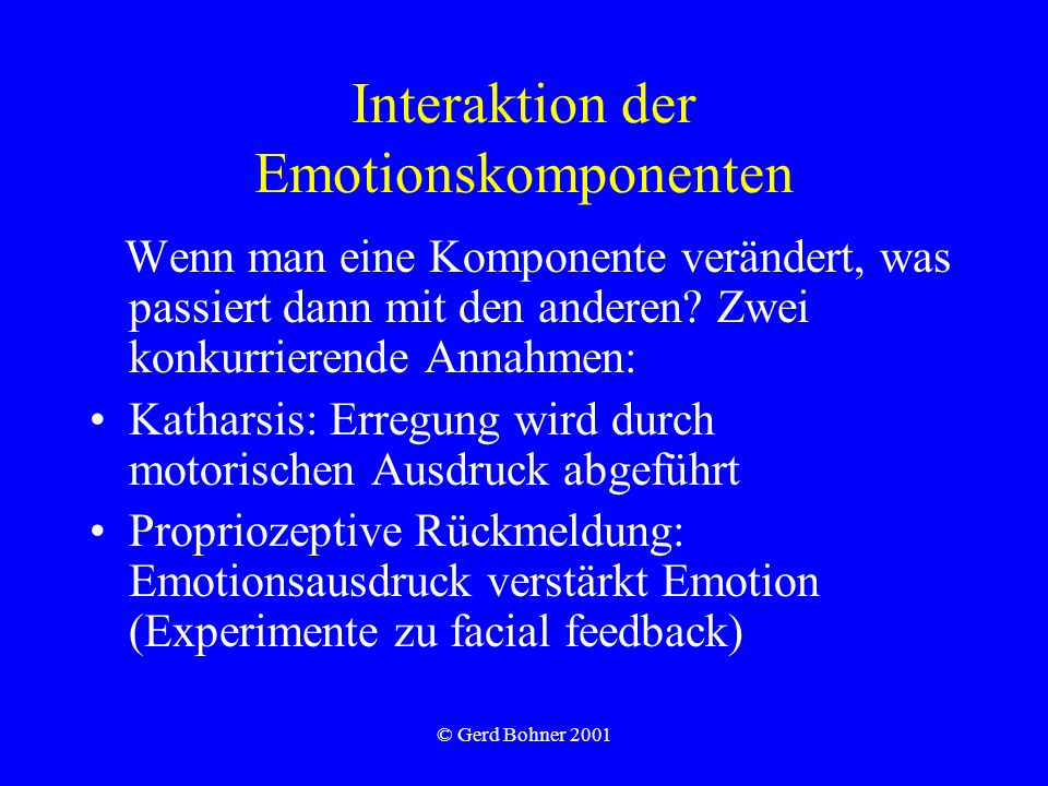 Interaktion der Emotionskomponenten