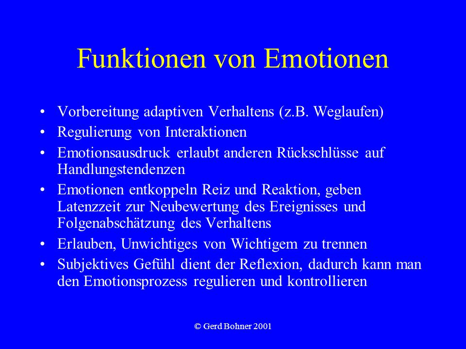 Funktionen von Emotionen