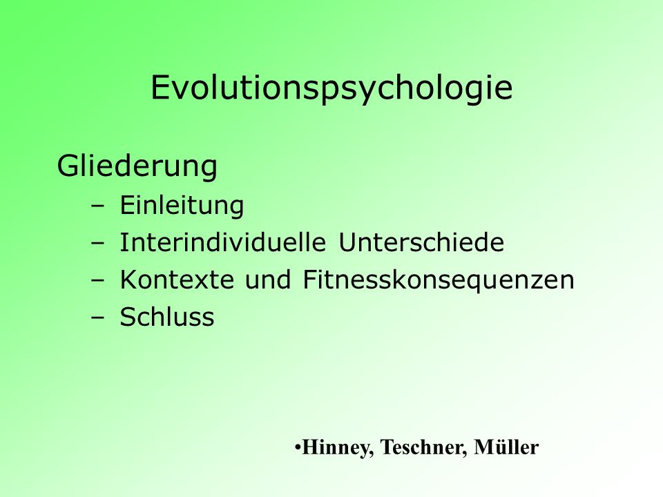 Evolutionspsychologie