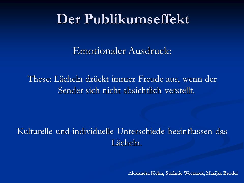 Emotionaler Ausdruck:
