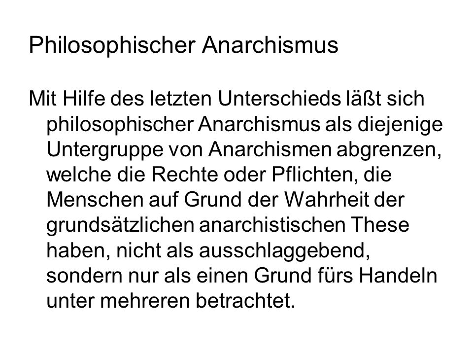 Philosophischer Anarchismus