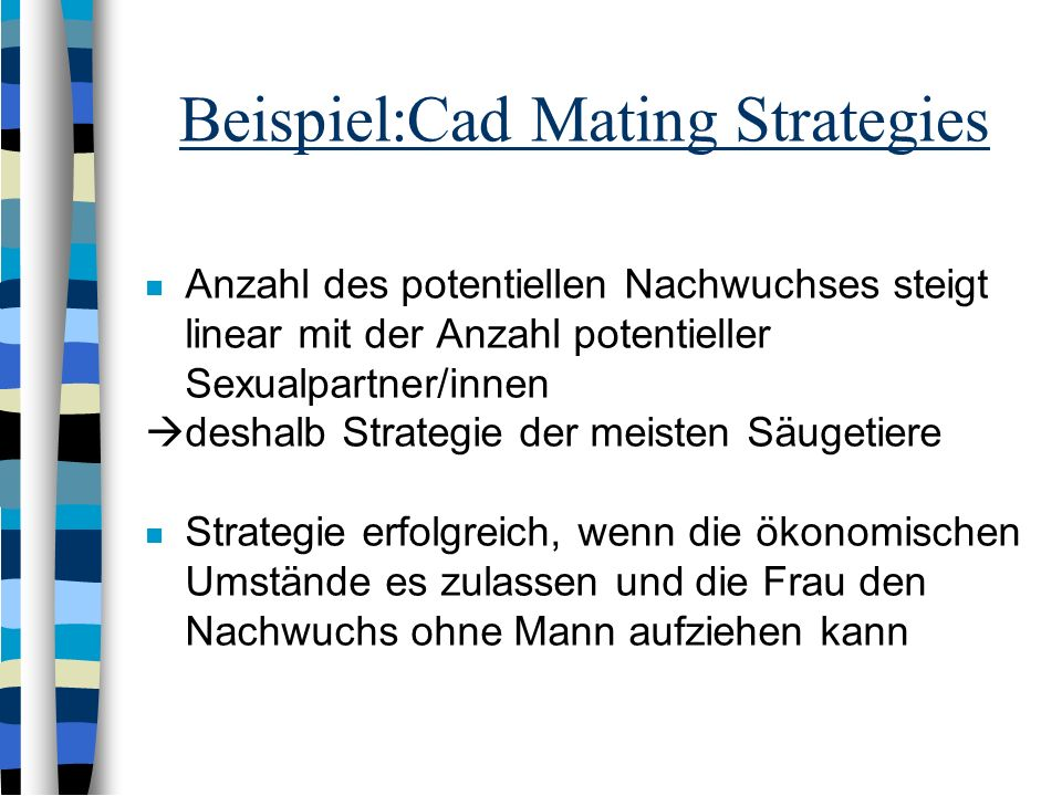 Beispiel:Cad Mating Strategies