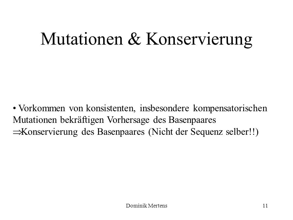 Mutationen & Konservierung