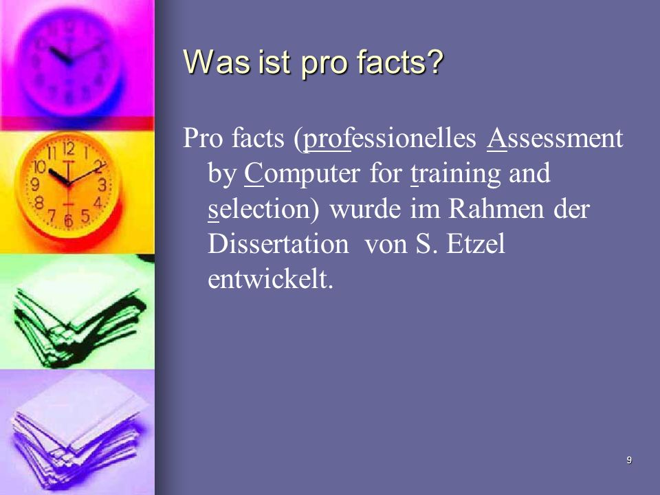 Was ist pro facts