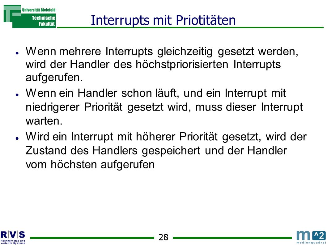 Interrupts mit Priotitäten