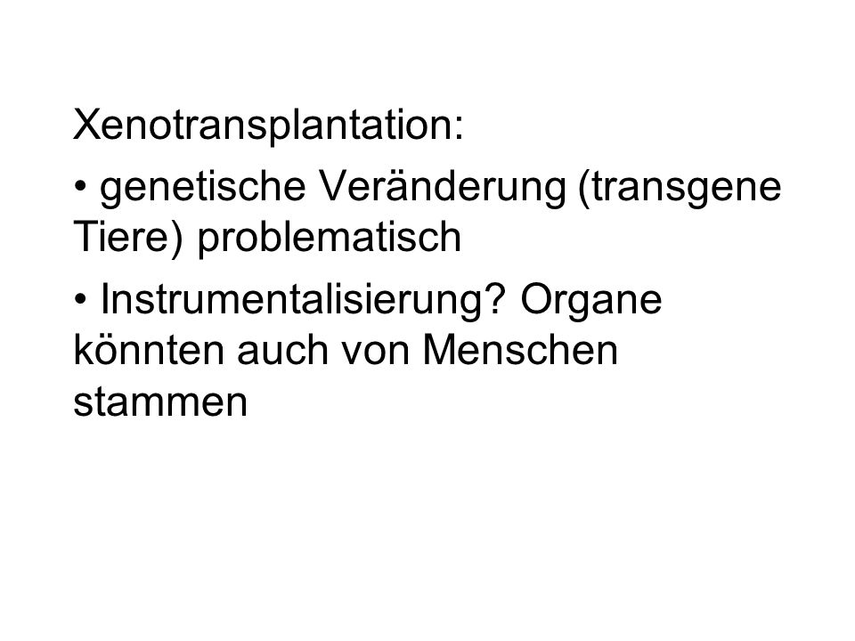 Xenotransplantation: