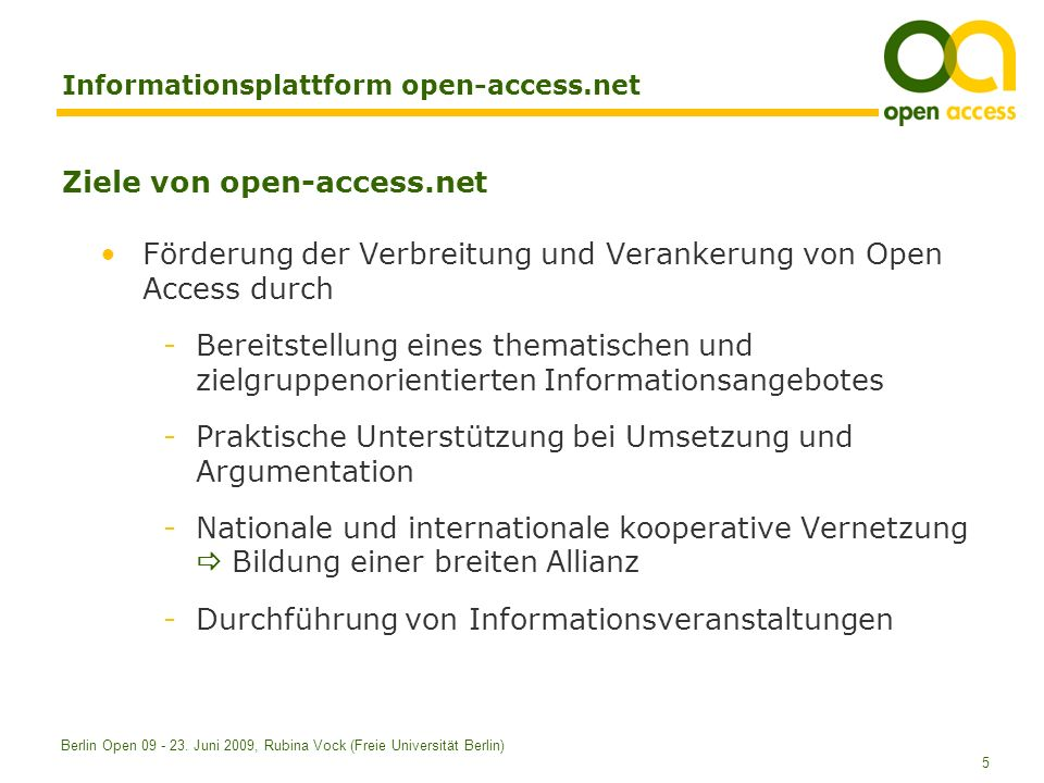 Informationsplattform open-access.net