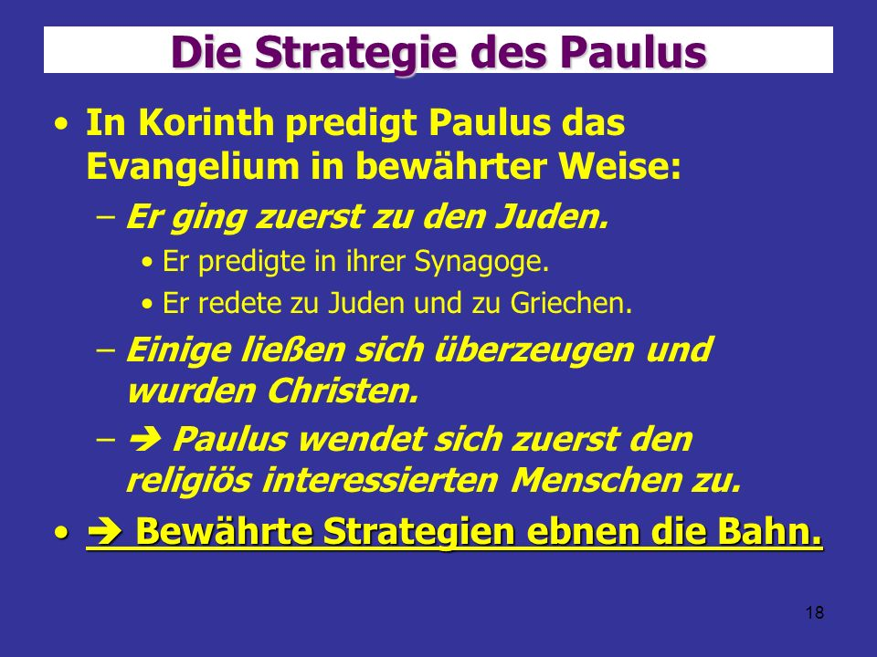 Die Strategie des Paulus