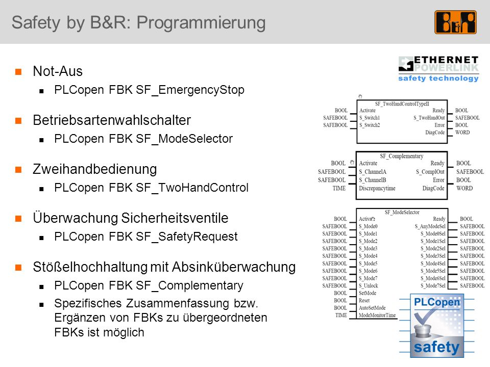 Safety by B&R: Programmierung