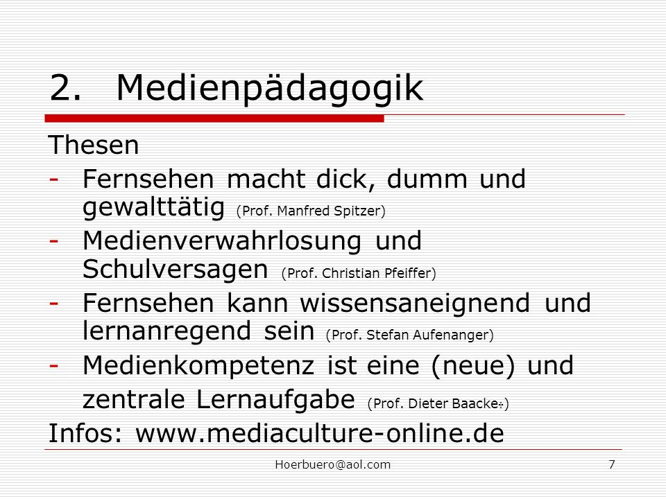 2. Medienpädagogik Thesen