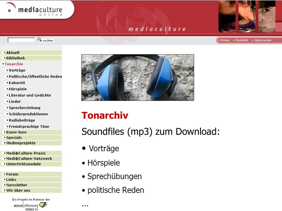 Soundfiles (mp3) zum Download: Vorträge