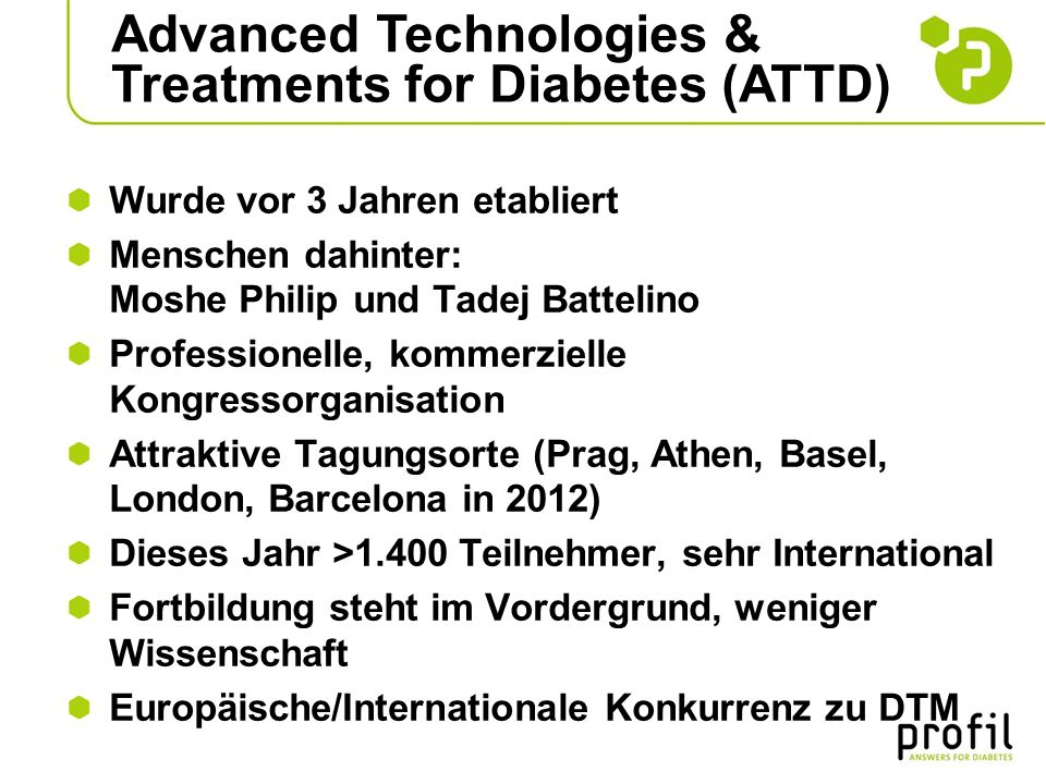 Advanced Technologies & Treatments for Diabetes (ATTD)