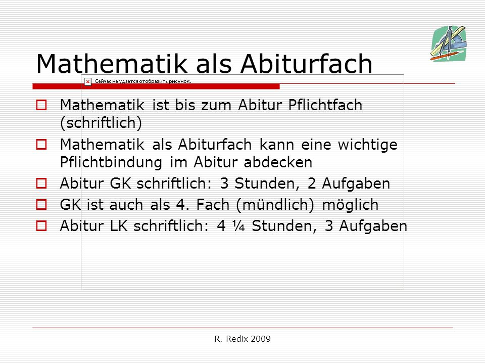 Mathematik als Abiturfach