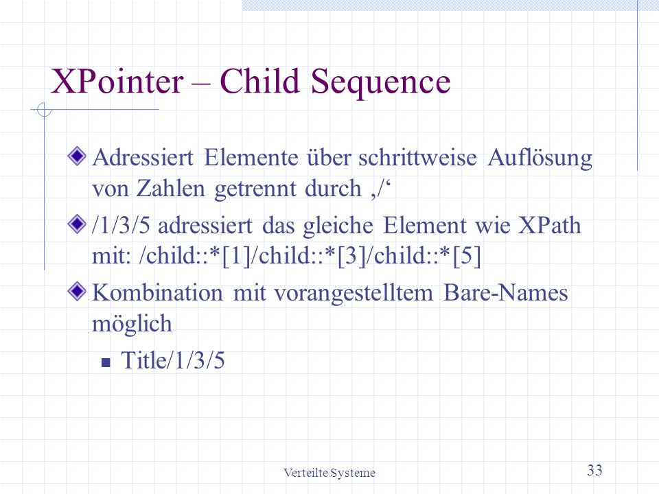 XPointer – Child Sequence