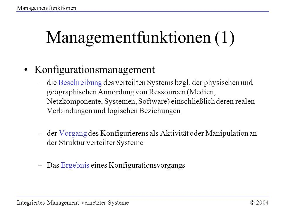 Managementfunktionen (1)