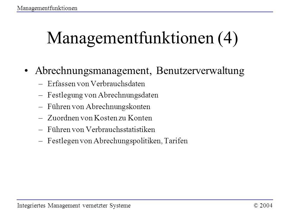 Managementfunktionen (4)
