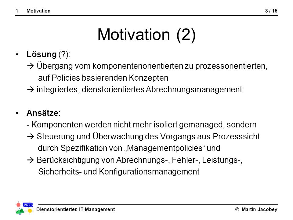 Motivation (2) Lösung ( ):