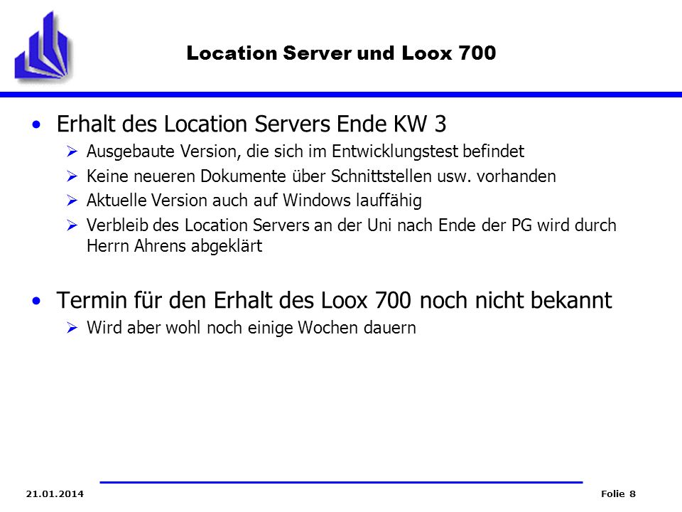 Location Server und Loox 700