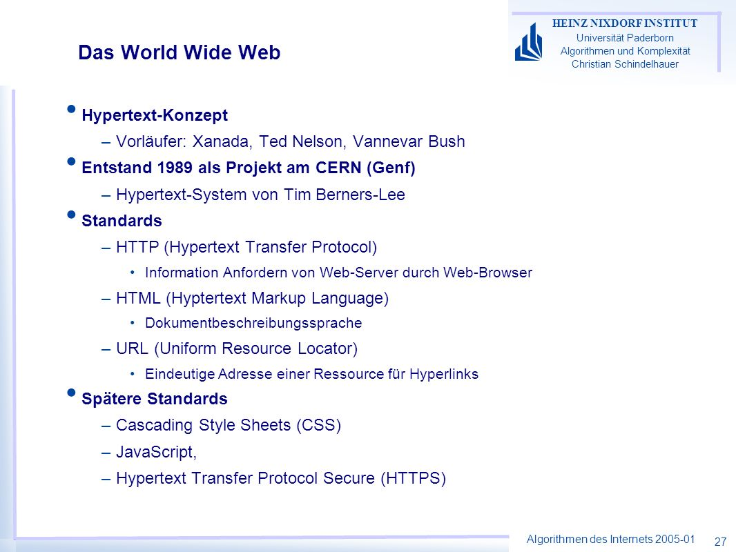 Das World Wide Web Hypertext-Konzept