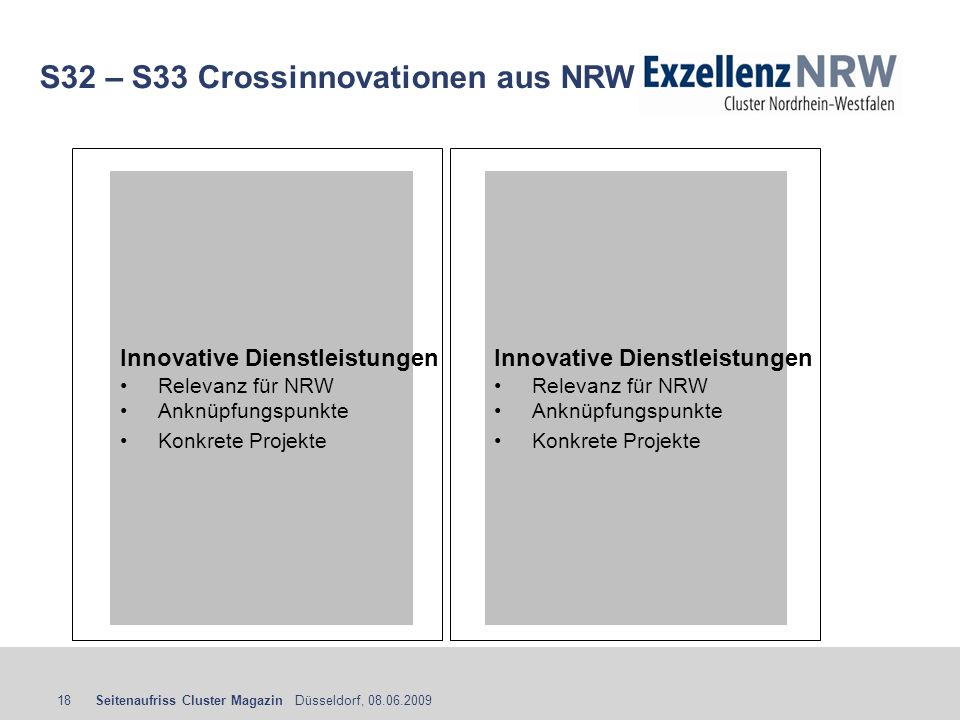 S32 – S33 Crossinnovationen aus NRW