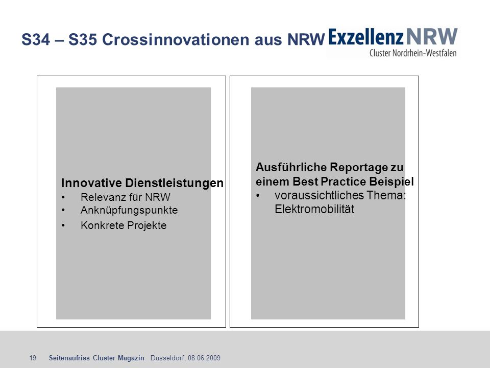 S34 – S35 Crossinnovationen aus NRW
