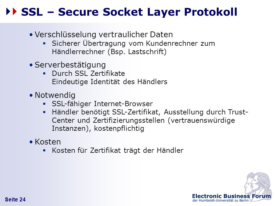 SSL – Secure Socket Layer Protokoll