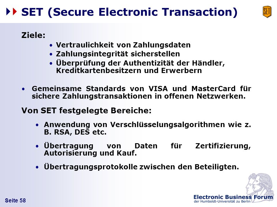 SET (Secure Electronic Transaction)