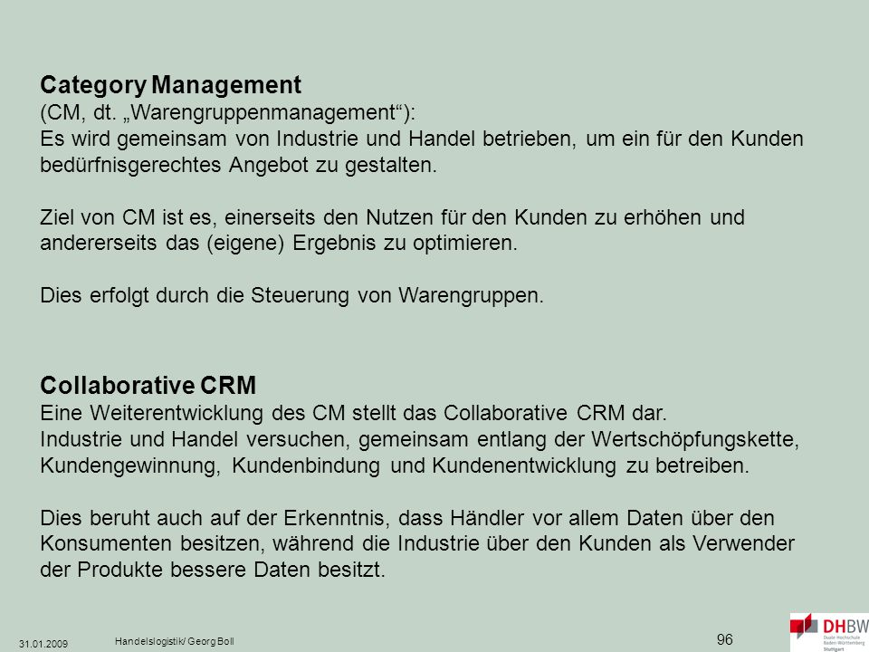 Category Management (CM, dt