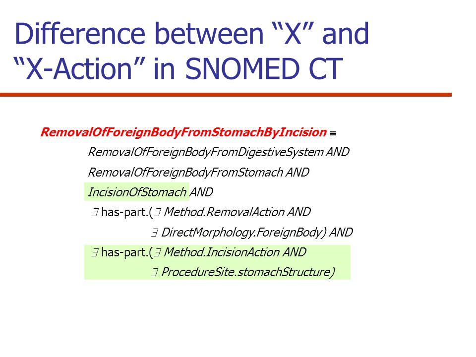 Difference between X and X-Action in SNOMED CT