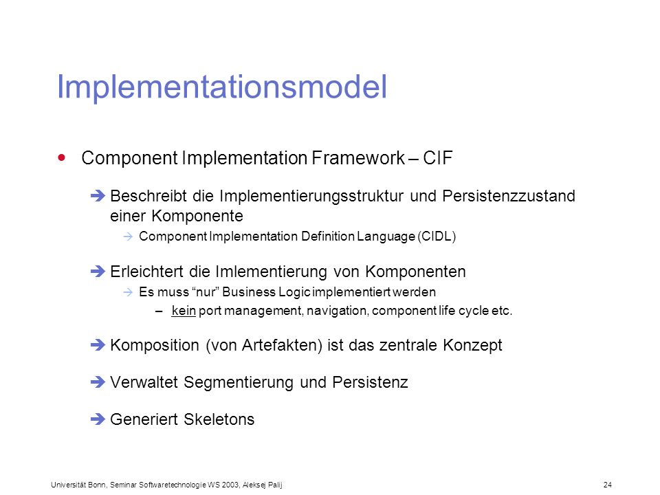 Implementationsmodel