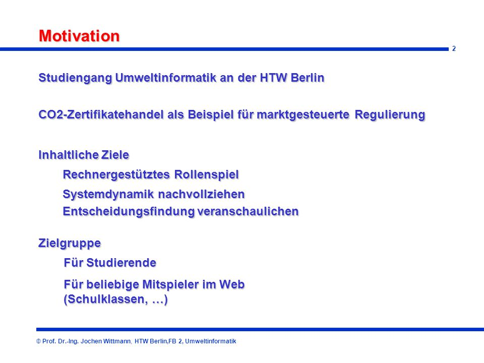 Motivation Studiengang Umweltinformatik an der HTW Berlin