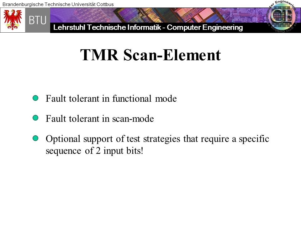 TMR Scan-Element Fault tolerant in functional mode