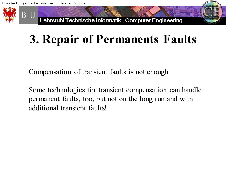 3. Repair of Permanents Faults
