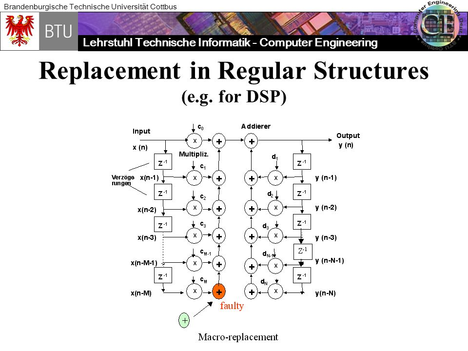 Replacement in Regular Structures (e.g. for DSP)
