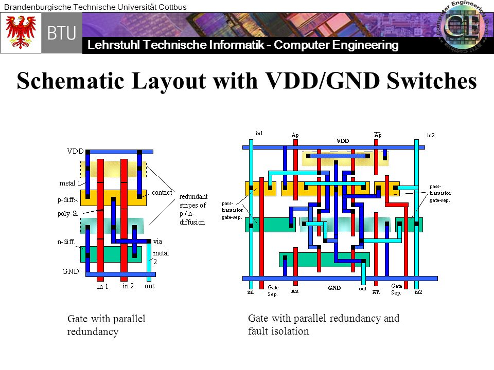 Schematic Layout with VDD/GND Switches