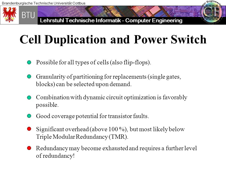Cell Duplication and Power Switch