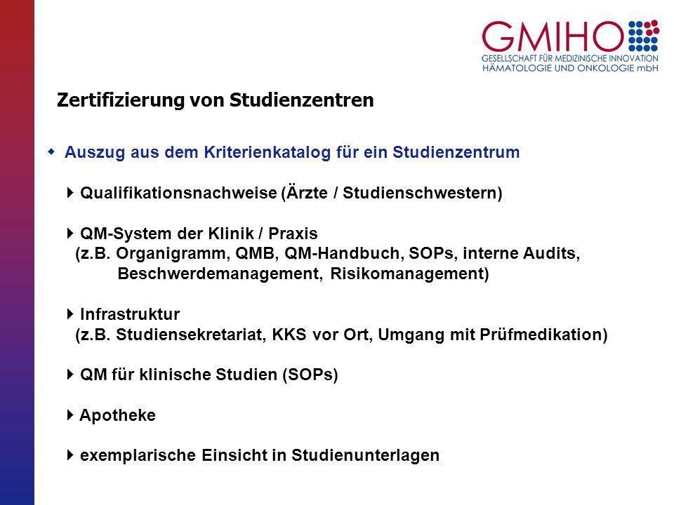 Zertifizierung von Studienzentren durch die DGHO / (GPOH ?) - ppt ...