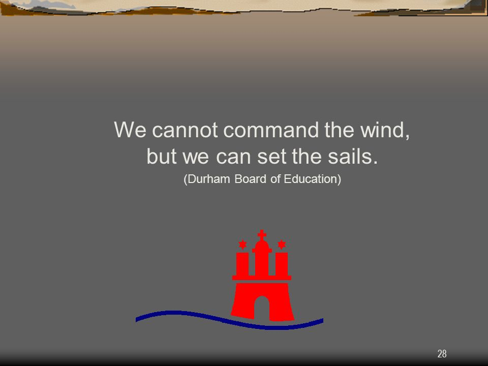 We cannot command the wind, but we can set the sails.