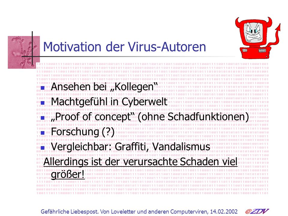Motivation der Virus-Autoren