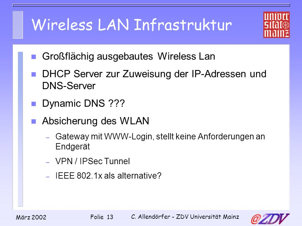 Wireless LAN Infrastruktur