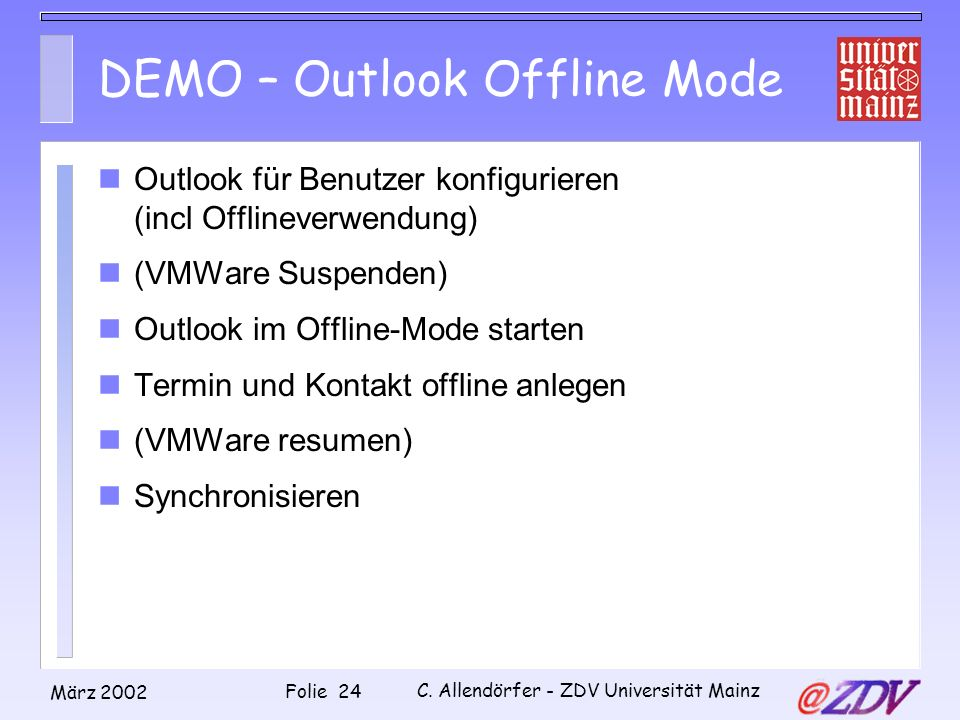 DEMO – Outlook Offline Mode