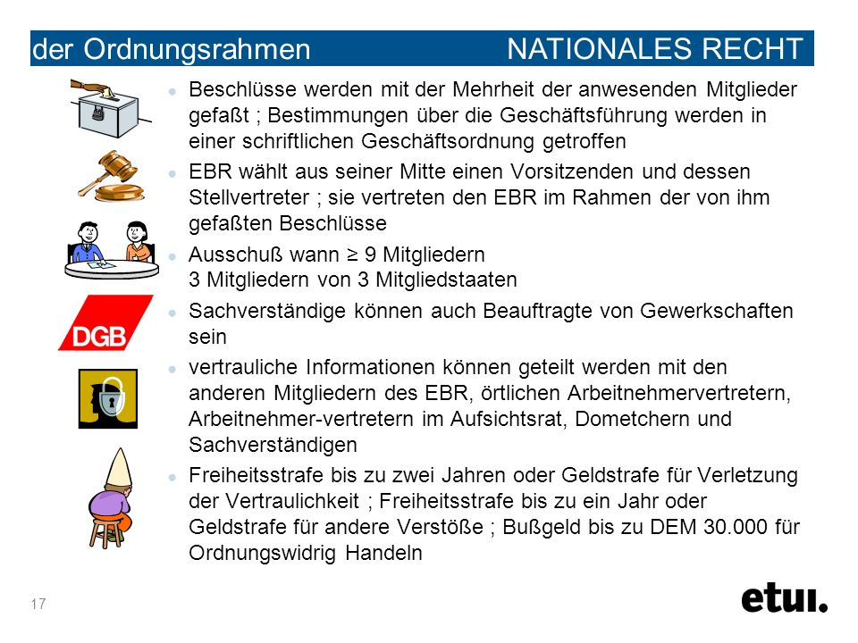 the legal framework der Ordnungsrahmen NATIONALES RECHT